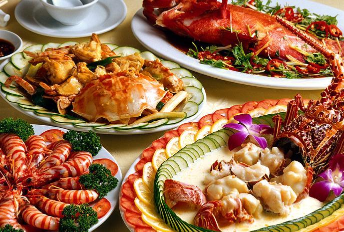 Thực đơn đồ Âu hải sản - Nhà hàng Hoa An Viên
